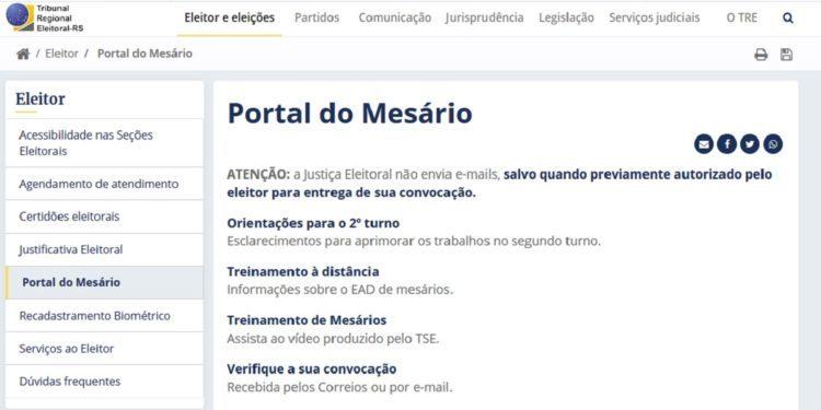 Portal do Mesário Declaração