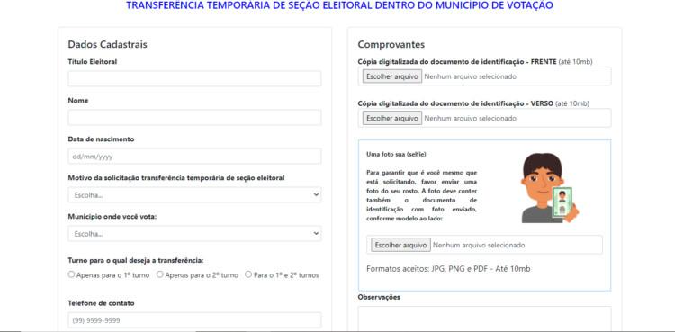 Transferência Temporária de Eleitor